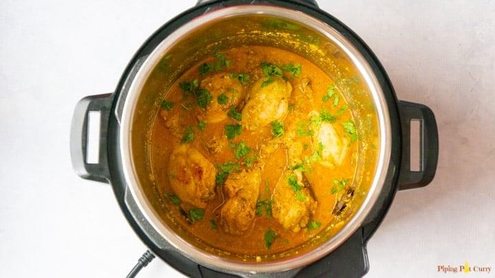 Chicken Korma - 4. Garnish with Cilantro