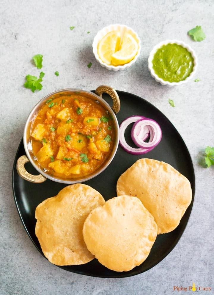 Instant Pot Potato Curry. Aloo Rasedar