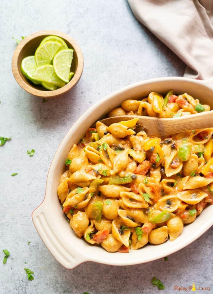 Instant Pot Fajita Pasta Vegetarian
