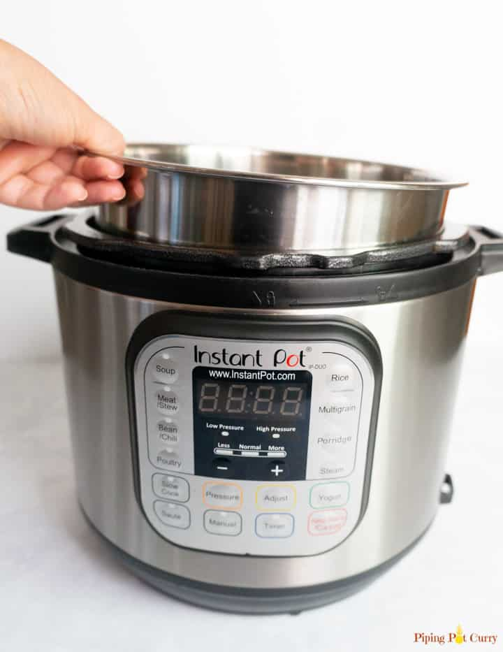 Instant Pot Setup - Putting inner pot in base unit