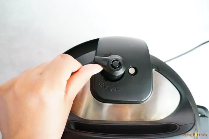 Instant Pot Water Test - Close vent