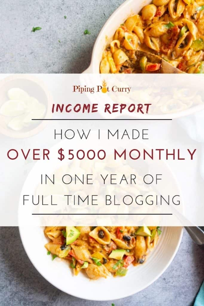 Want to make money blogging? Here I share the food blog income report for how I make over $5000 monthly in one year of full-time food blogging.