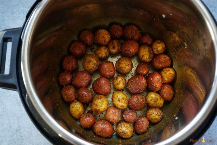 Spicy Bombay Potatoes - before pressure cooking