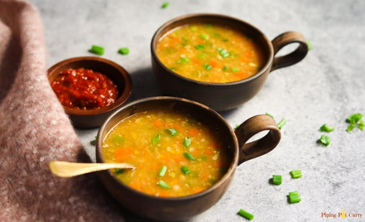 Sweet Corn Soup - Instant Pot - Piping Pot Curry