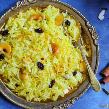 Zarda. Meethe Chawal. Sweet Rice in Instant Pot