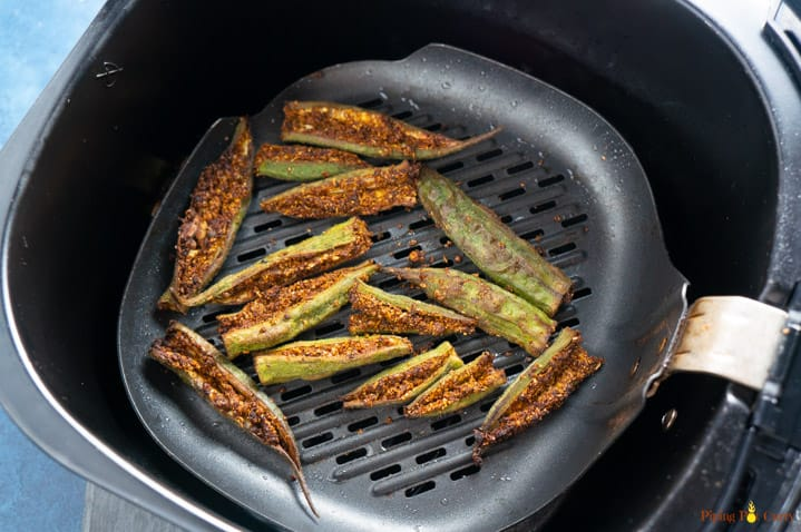 Bharwa Bhindi cooked in the air fryer