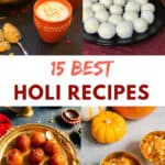 Holi Recipes shown as a collage