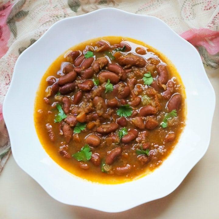 Punjabi Rajma Instant Pot Stovetop Red Bean Curry Piping Pot Curry
