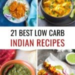 Collage of keto indian recipes