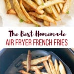 French Fries in Air Fryer and along with a yogurt dip