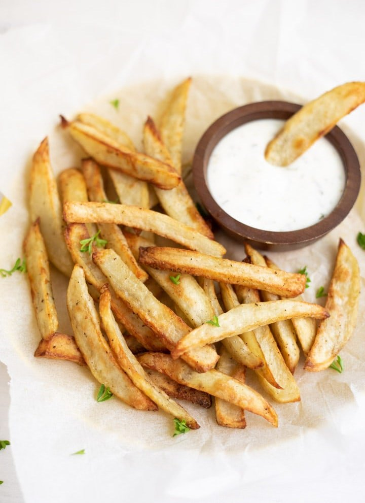 Homemade French Fries In Air Fryer Pressure Cooker Crisplid Piping Pot Curry