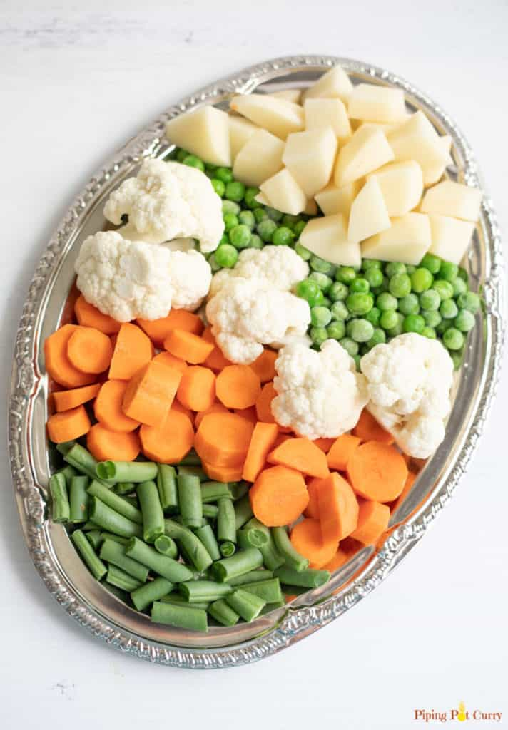 A variety of vegetables on a platter
