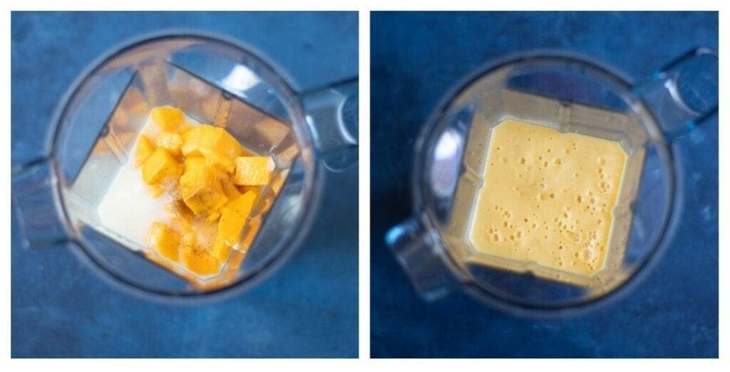 Steps to make mango lassi in blender