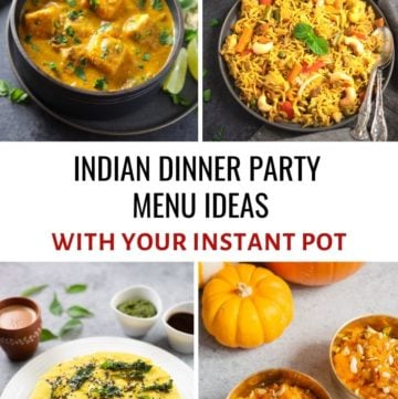 indian vegetarian dinner party menu ideas