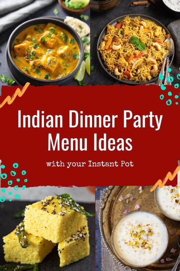 indian dinner party menu ideas