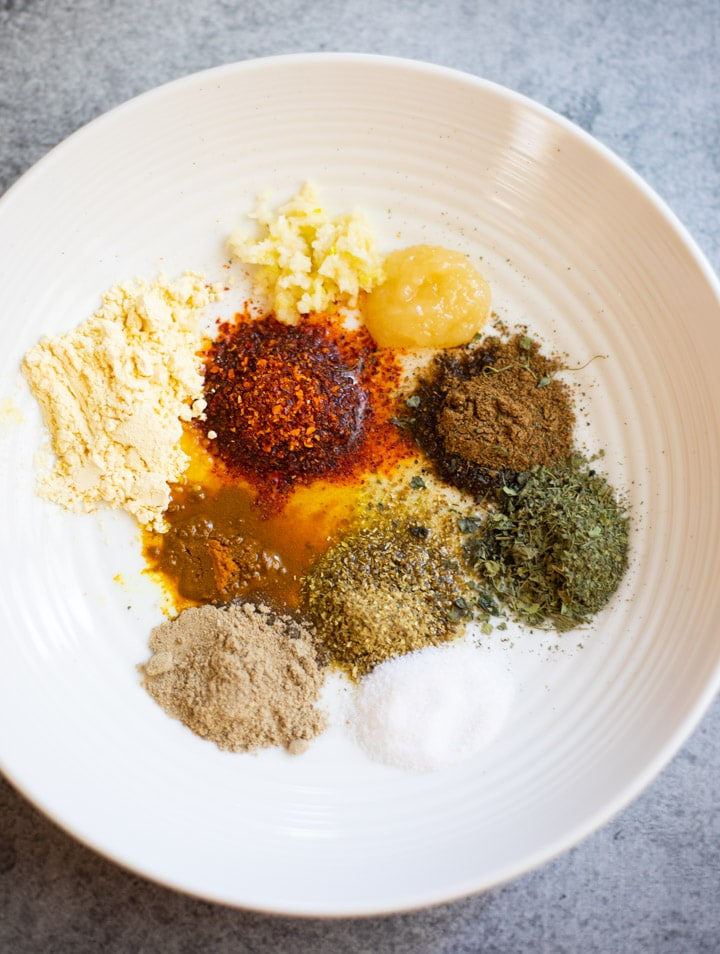 Spice Ingredients to make a marinade