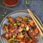 Easy Restaurant style Chilli Chicken in a plate