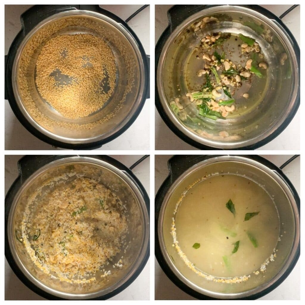 ven pongal steps to make in instant pot collage