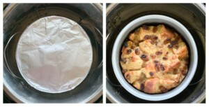 banana bread pudding cooked in the instant pot