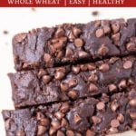 3 slices of the best double chocolate zucchini bread