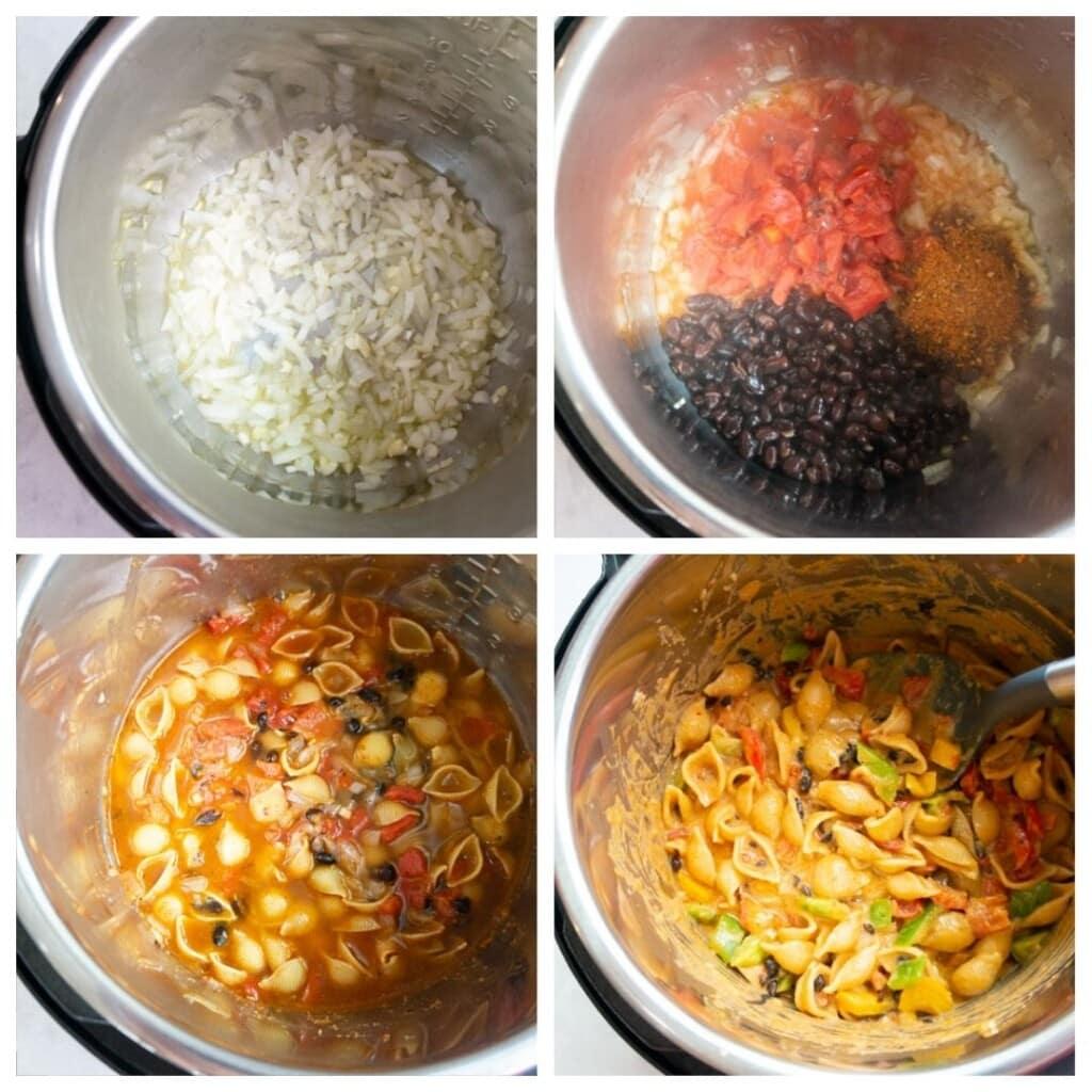 Steps to make fajita pasta In the instant pot