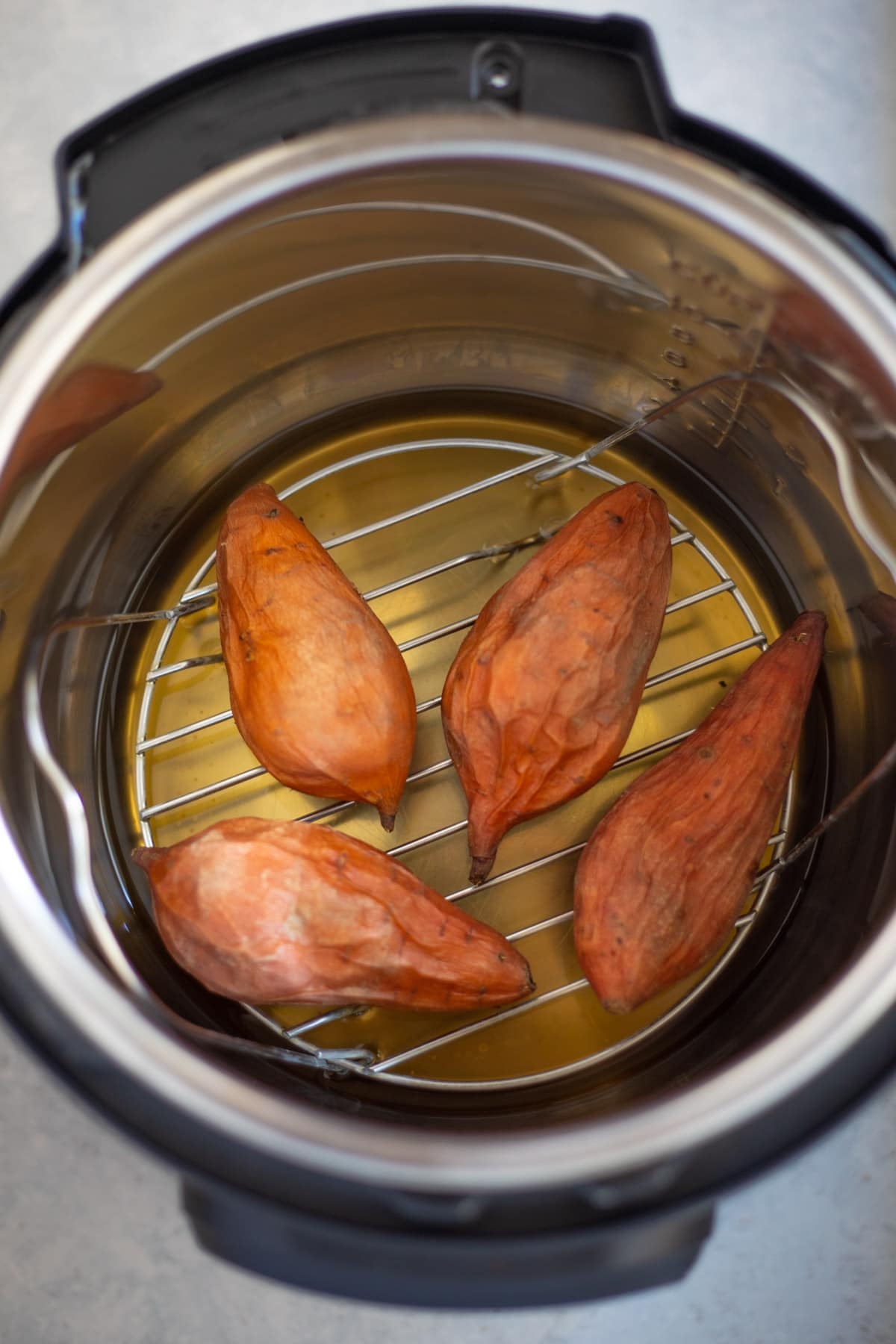 Sweet potatoes cooked in the instant pot