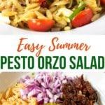 Easy Summer Pesto Orzo Salad