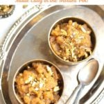 Easy Moong Dal halwa made in a pressure cooker