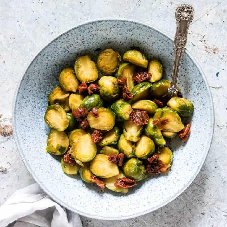 Brussels sprouts cooked in the instant pot