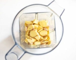 pieces of ginger in a jar