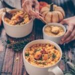 Vegan Instant Pot Butternut Squash Risotto in a cozy bowl