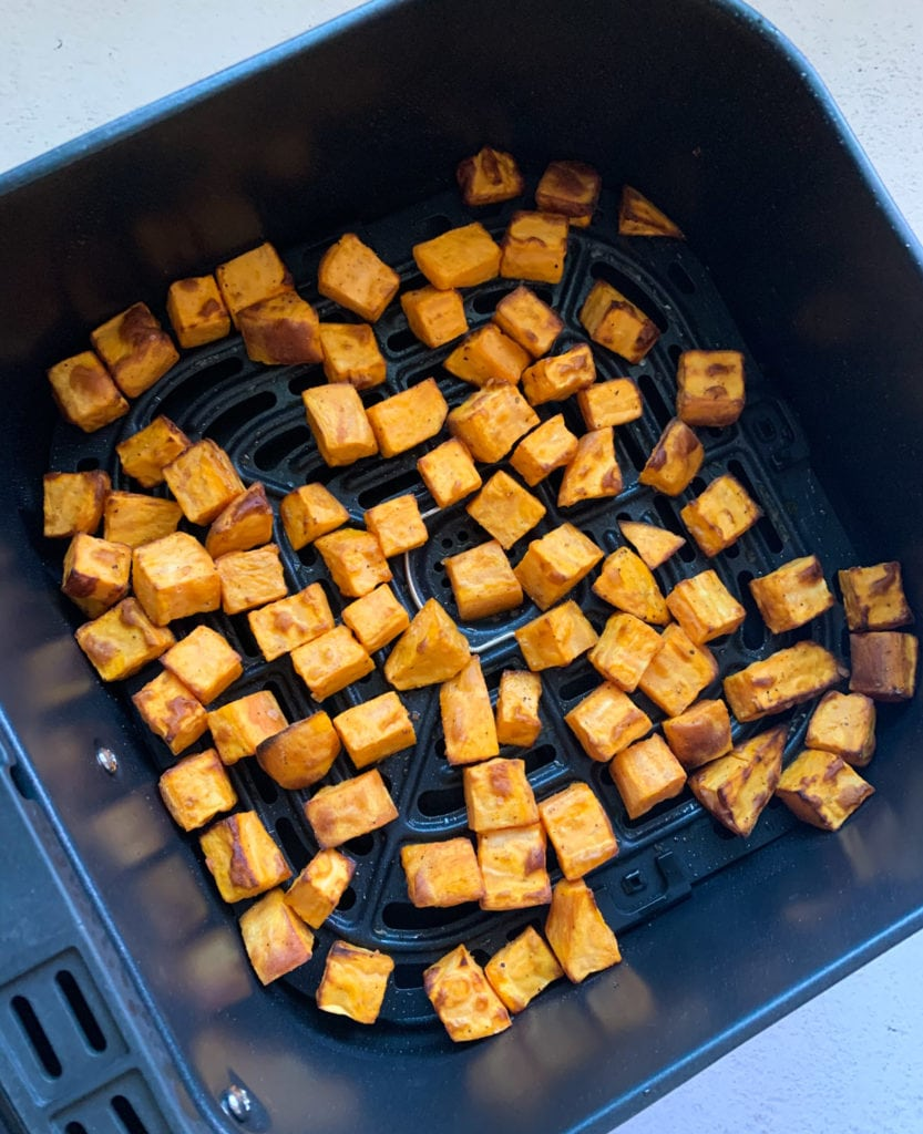 Roasted sweet potato in the air fryer