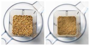 Coriander seeds ground to coriander powder