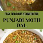 Easy Punjabi Moth Dal