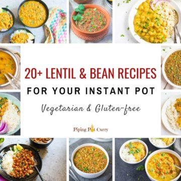20+ instant pot lentil and bean recipes