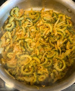 Cooked karela subji