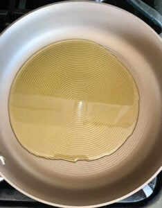 ghee melted in a pan