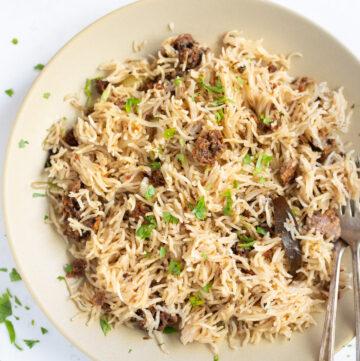 Punjabi Rice recipe with Amritsar wadi