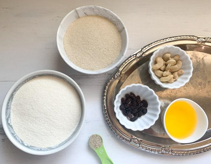 Rava Ladoo ingredients