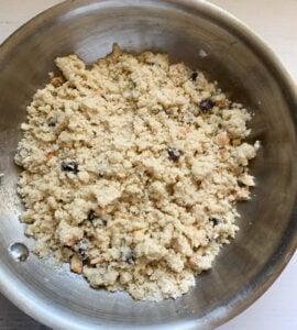 Rava Ladoo mixture ready to bind ladoo