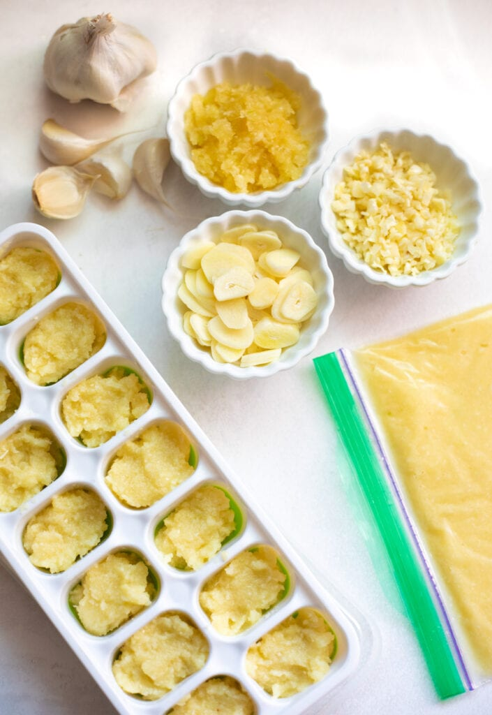 How to peel, slice, cut, mince garlic and make a paste