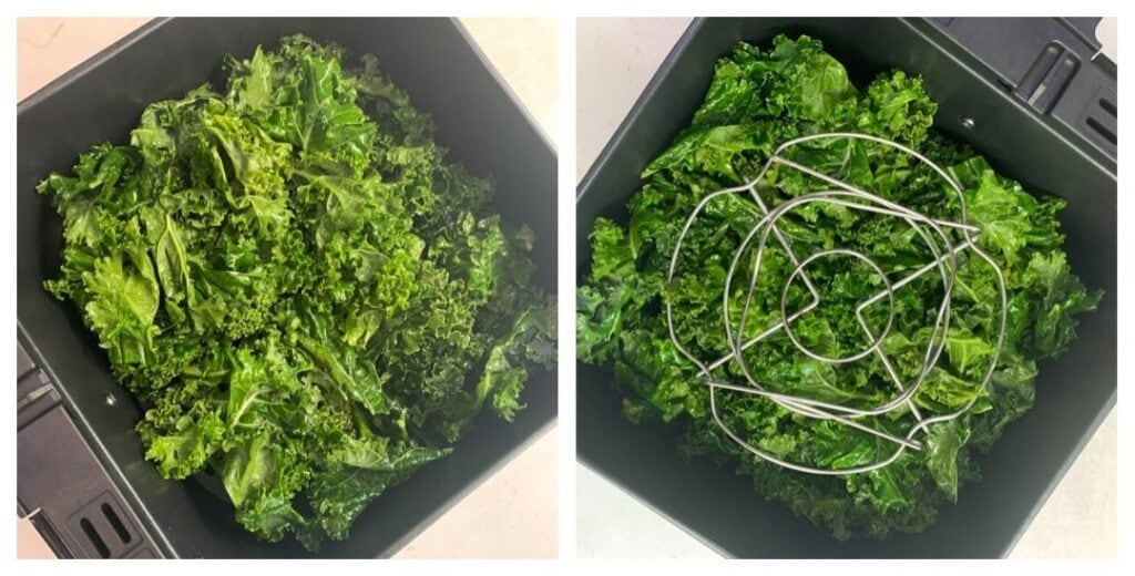 Seasoned Kale in air fryer