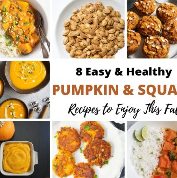 Easy & Healthy pumpkin and squash recipes for fall and winter