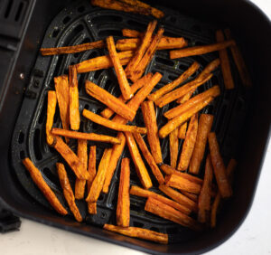roasted carrots in the air fryer