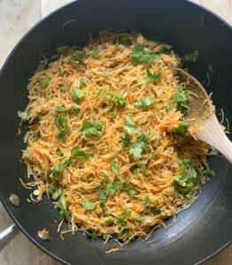 Semiya upma made with vermicelli and veggies