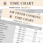 Air fryer cooking time chart