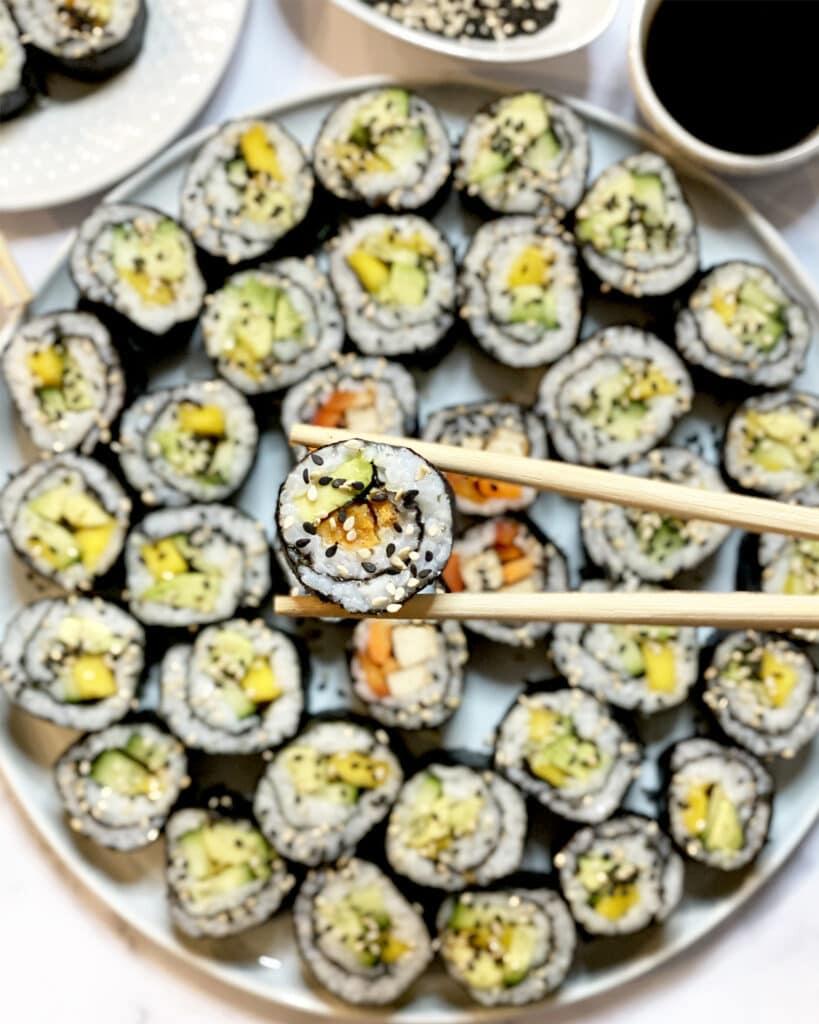 Ready to eat sushi