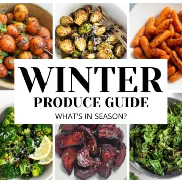 Winter produce guide - what's in season fruits and veggies