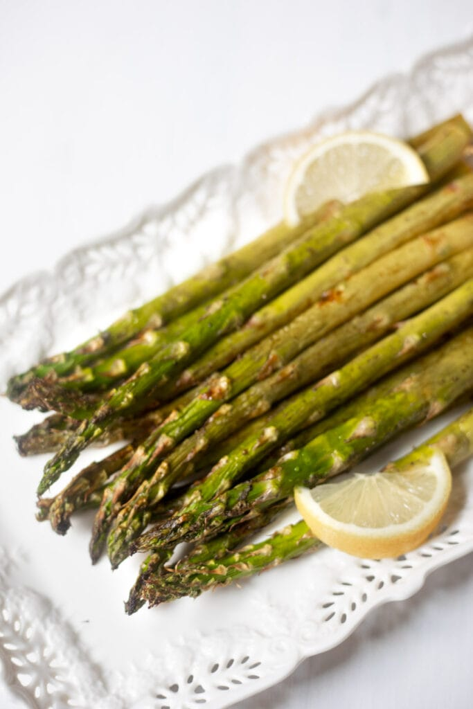 air fried asparagus spears