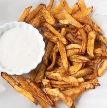 Turnip Fries served with ranch